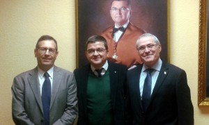 Los tres últimos directores de la EPS de Algeciras.