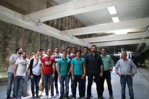 Alumnos del Grado en Ingeniería Civil en la visita Técnica al Metro de Granada