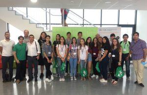 Alumnos de secundaria y bachillerato de la comarca que participa en esta sesión del Campus de Verano.