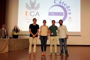 El equipo ganador. De izquierda a derecha: José María Alconchel, Ana Castro, Antonio Moreno y Antonio León.