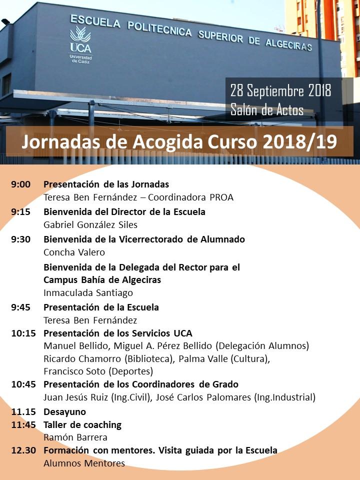 Jornada de Acogida 2018/19