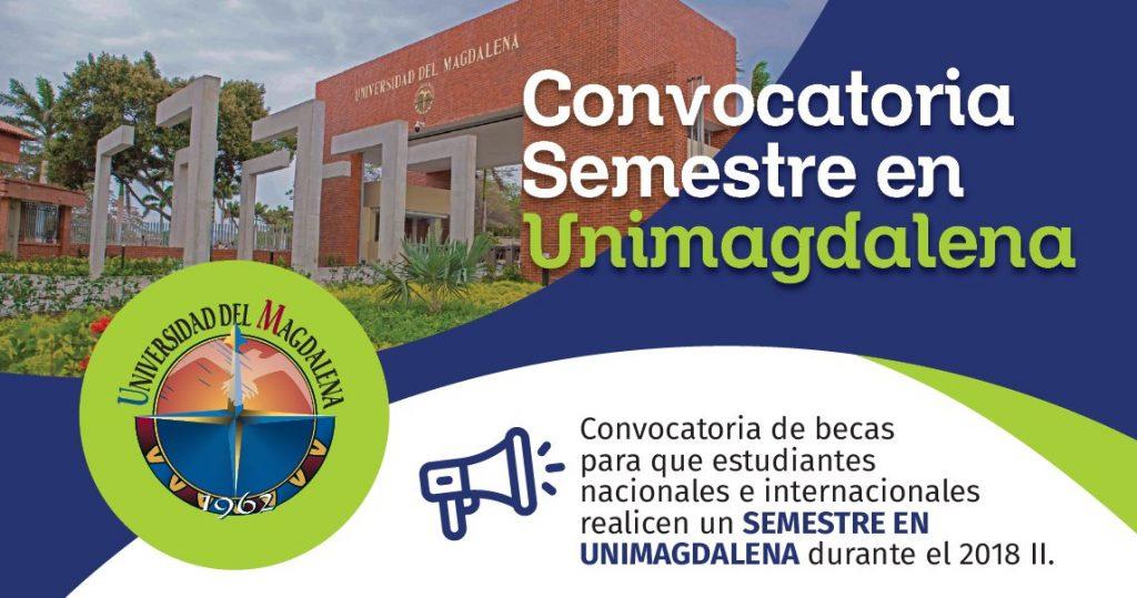 [Movilidad internacional] Convocadas becas para estudiar un semestre en la Universidad del Magdalena, Colombia.