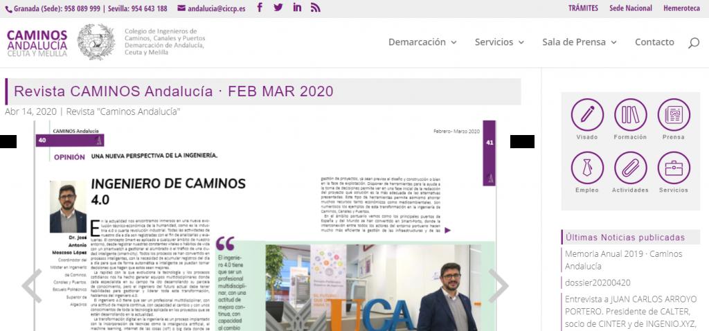 """La revista """"Caminos Andalucía"""" entrevista al coordinador del MUICCP"""