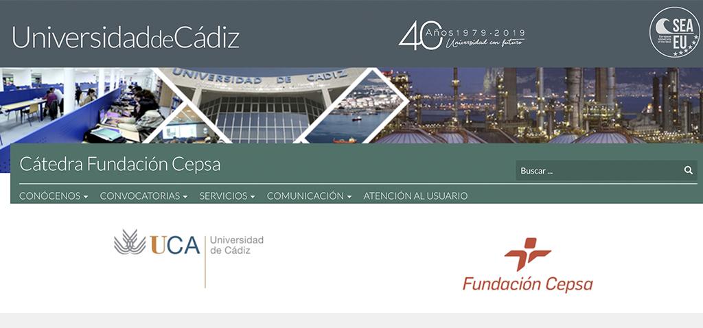 La Cátedra Fundación Cepsa de la UCA celebra la primera comisión rectoral del año de forma virtual